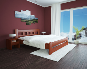 Łóżko bukowe kwadrat