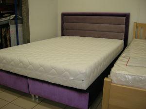 Łóżko tapicerowane kontynentalne, box