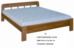Łóżko drewniane - olcha