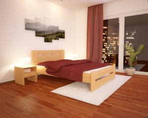 Łóżko z drewana bukowego Mila